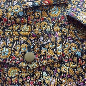 Coldwater Creek jewel toned floral jacket sz L